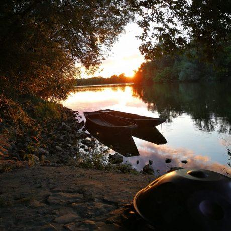Couché de soleil en bord de Loire
